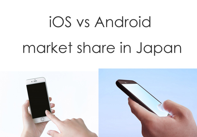 iOS vs Android market share in Japan